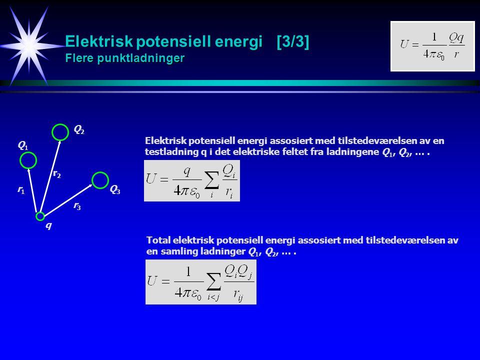 Elektrisk potensiell energi [3/3] Flere punktladninger